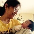 11.23.阿嬷與50天大的小V寶寶對話中