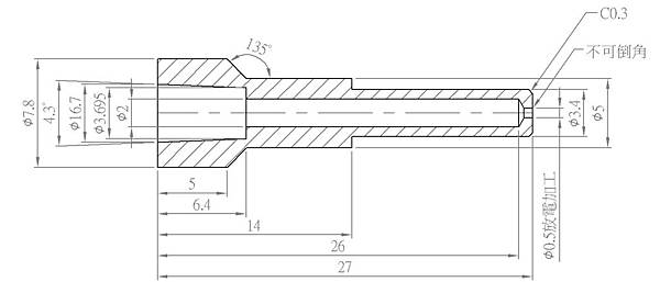 銅針頭設計圖