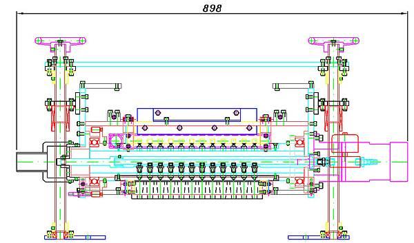 第6代滾筒播種機設計圖正面