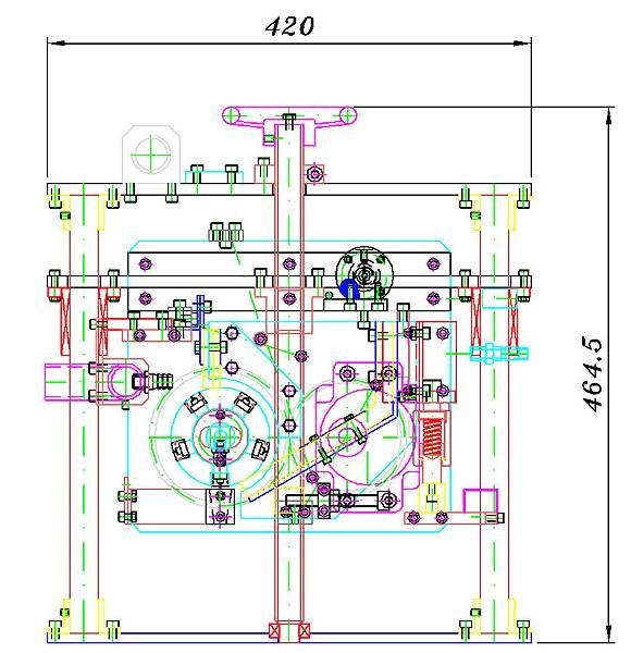 第6代滾筒播種機設計圖側面