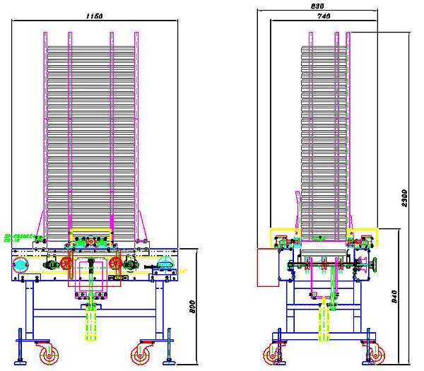 泛用型蔬菜育苗穴盤排箱機設計圖