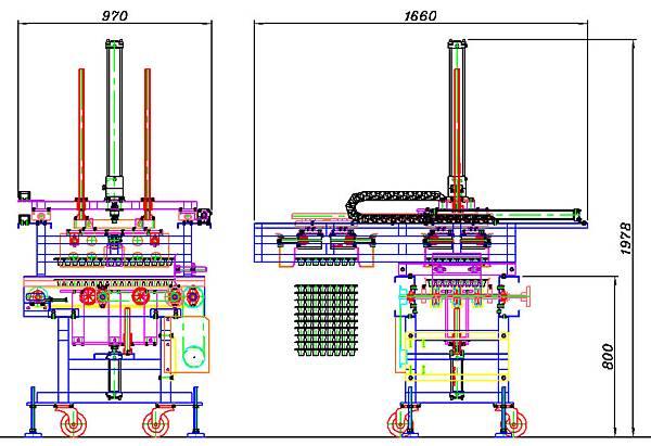 軟式育苗穴盤排箱機設計圖