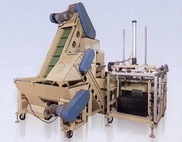 軟式育苗穴盤排箱機和介質土裝填機