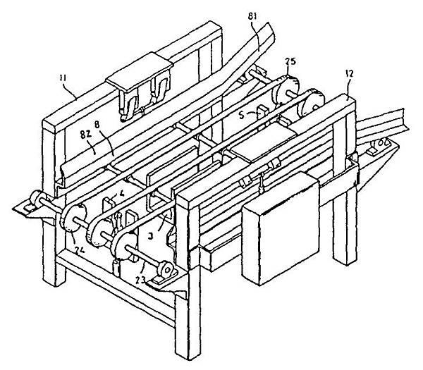 泛用型蔬菜育苗穴盤積箱機雛型機示意圖