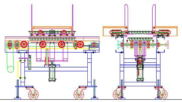 泛用型蔬菜育苗穴盤積箱機設計圖