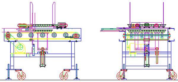 橫式泛用型蔬菜育苗穴盤積箱機設計圖