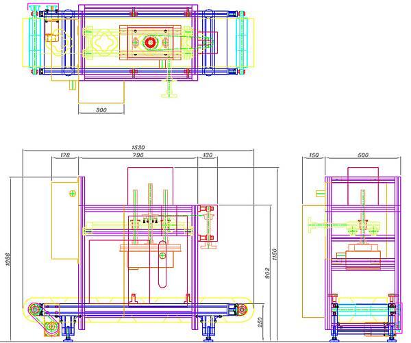 水果檢測系統打光輸送機構設計圖