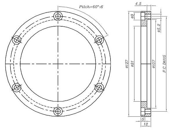 脫毛罐攔網固定環零件圖