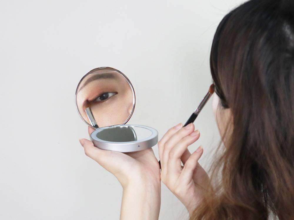 Midea美的口袋化妝鏡-隨身鏡-放大鏡子-補光燈鏡-美妝鏡推薦評價47.jpg