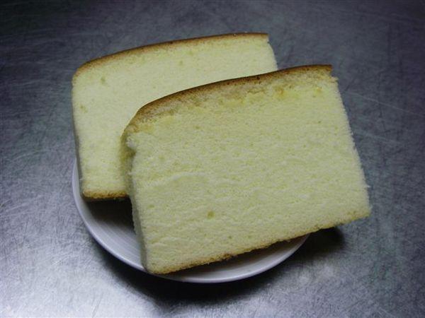 切片的蜂蜜蛋糕