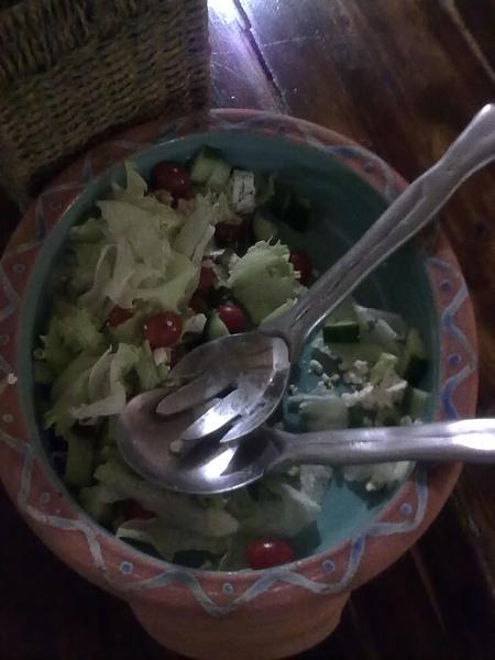 Clare做的生菜沙拉,超好吃的…