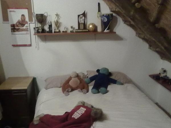 我們睡他們小孩某一人的房間