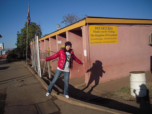 到了去Durban的Border