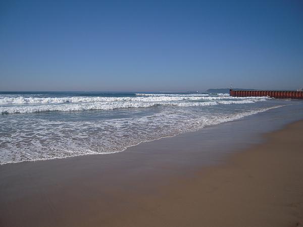 這裡的海灘比台灣乾淨,也比莫三比克乾淨太多了…