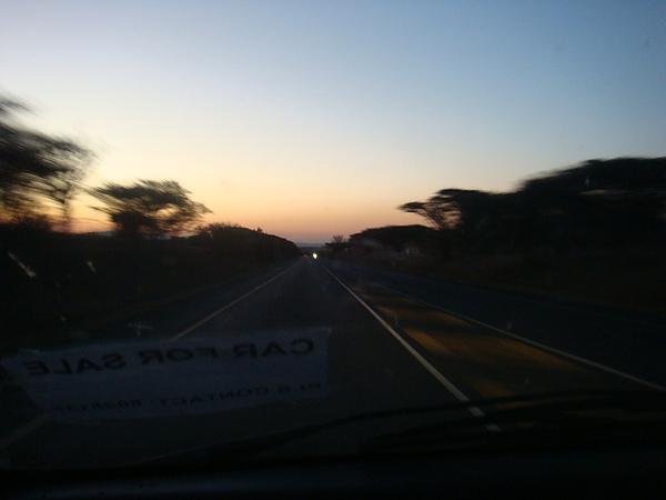 回程的夕陽