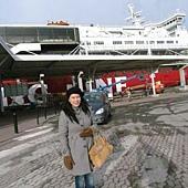準備搭船返回芬蘭囉!