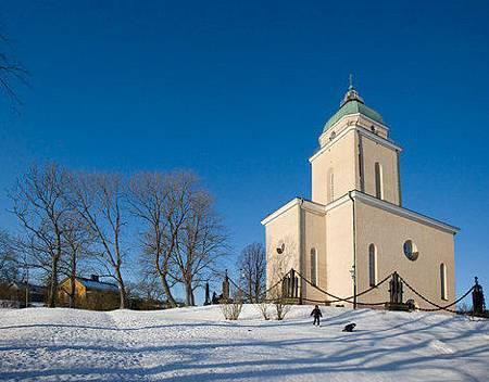 海上芬蘭堡的美麗教堂