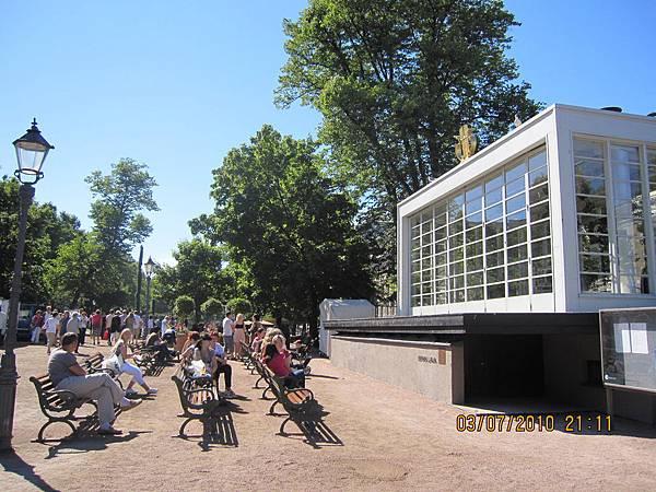 公園裡音樂舞台