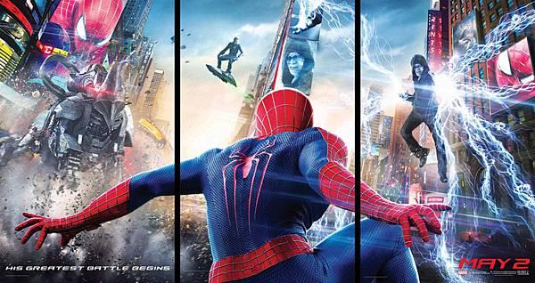蜘蛛人果真猛阿,可是怎麼不三個一起上呢?