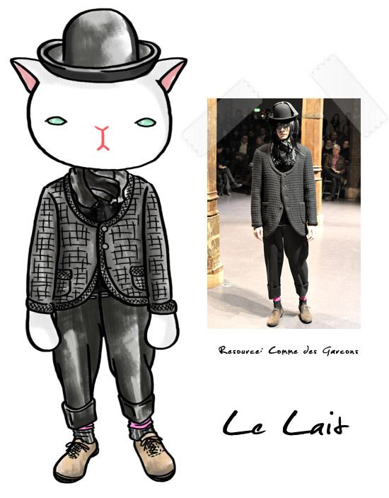 Le Lait,牛奶貓,Comme des Garçons,時尚,runway