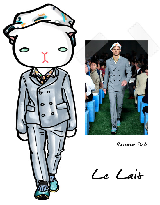 la Lait,Prada,fashion,runway,時尚