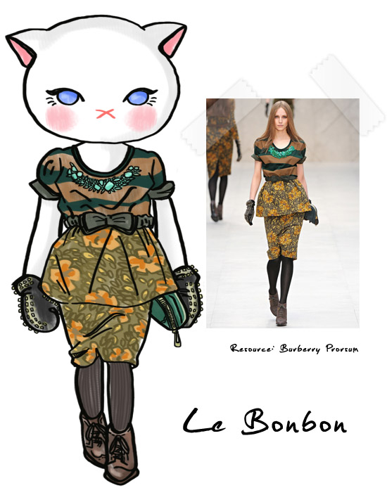 糖果貓, Burberry Prorsum,fall 2012 ,runwau,fashion show,le bonbon, 時尚,秋天