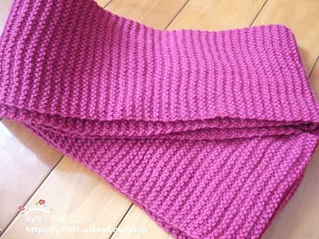 第一條棒針圍巾2