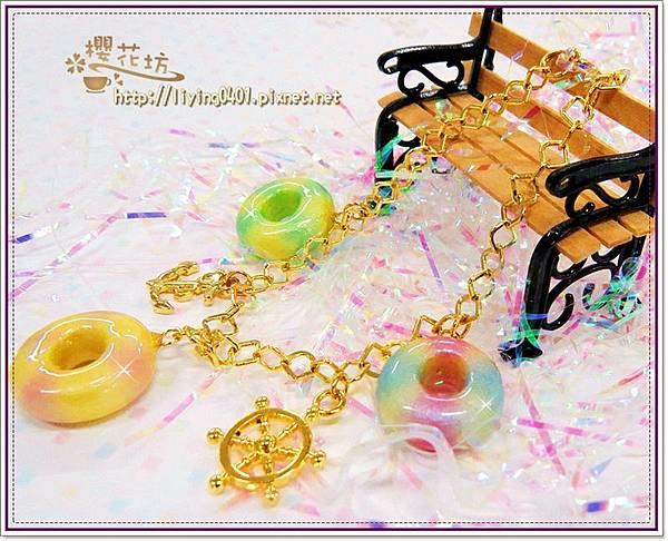 珠寶黏土~游泳圈&船錨&船舵可愛墜飾造型手鍊
