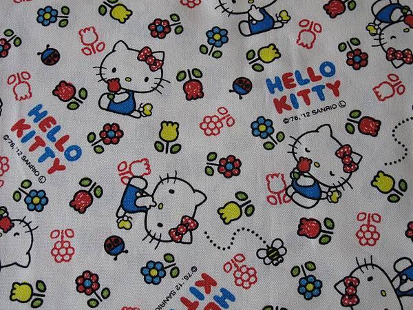 日本進口kitty卡通授權棉麻布料