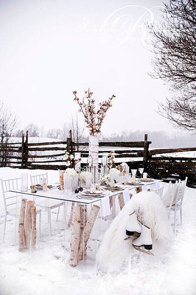 Winter Wedding Decor Flowers Toronto Muskoka