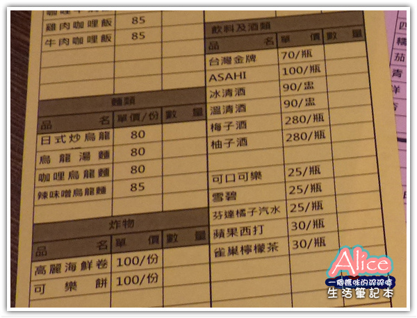 赤串燒 A-KA Kushiyaki_菜單menu