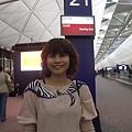 V抵達香港機場