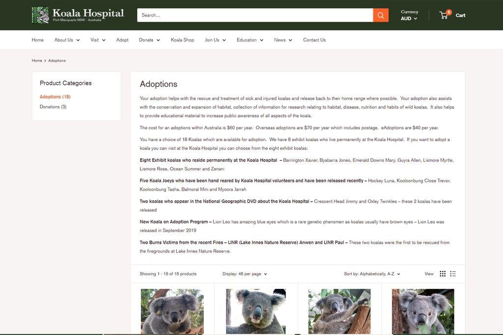 澳洲無尾熊醫院(Australia Koala Hospital)的無尾熊認養網站.jpg