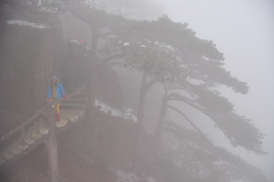 霧黃山16