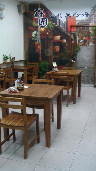 桌椅可都是詩肯柚木的唷