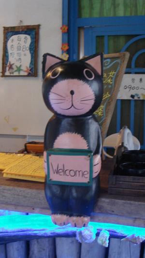 貓咪在向客人們說 歡迎光臨
