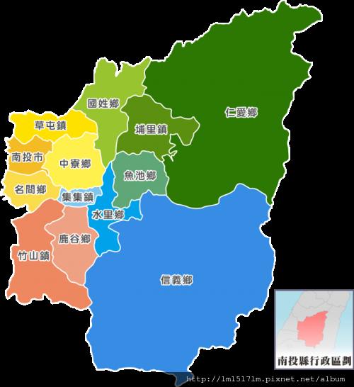 南投地區圖