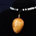 超漂亮台灣檜木(紅檜)帶財項鍊 C018 尊貴的獨一無二,獻給獨特的擁有者/超油重紅檜聞香把玩(只有1個)
