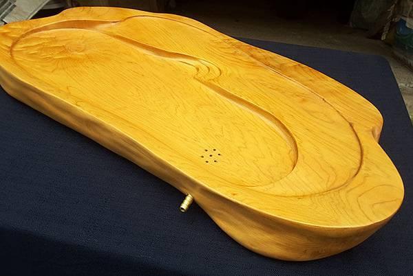 cc800【阿里山小姑娘】台灣黃檜茶盤,重量約 5400公克-2