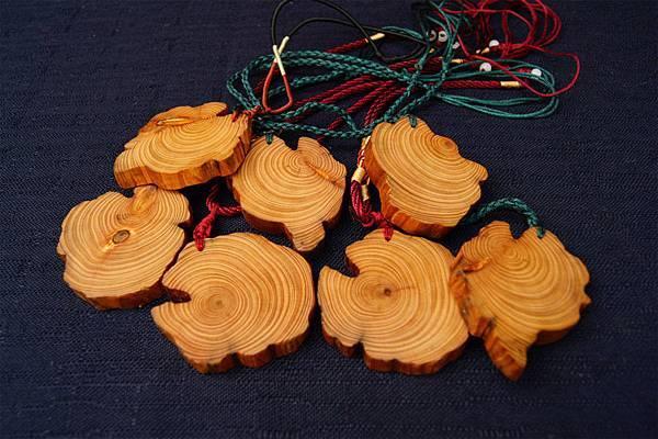 台灣紅檜根年輪項鍊