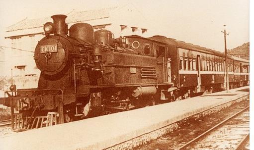 50年代奔馳在萬新鐵路的CK101火車