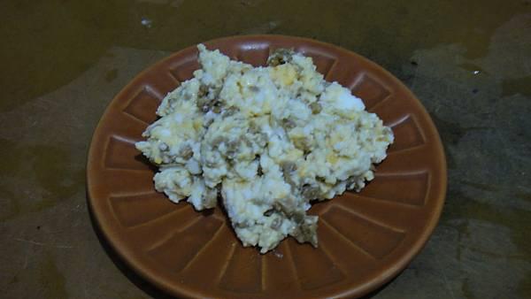 麻油薑末拌鹹蛋