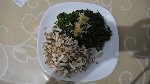干貝香菇炒野萵苣