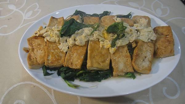紅燒豆腐燴茼蒿葉