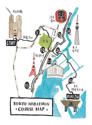 東京馬拉松地圖