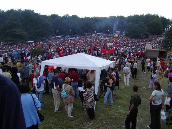 馬其頓-抗議希臘活動現場