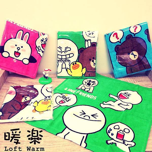 Line Towel Line卡通人物系列毛巾.jpg