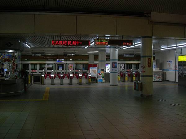 萬芳醫院站驗票閘門