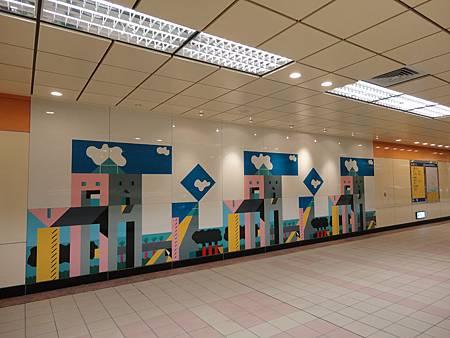先嗇宮站大廳層壁畫