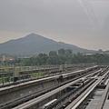 議政府輕電鐵塔石站旁尾軌